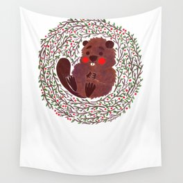 Baby Beaver Wall Tapestry