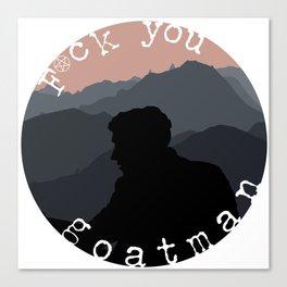 """F*ck you, Goatman"" Shane Madej Graphic Canvas Print"