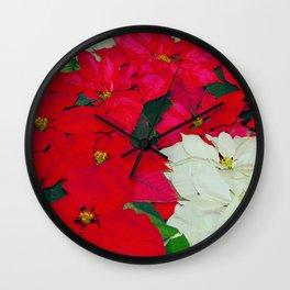 Poinsettias, Olbrich, 5345 Wall Clock