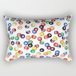 Pool Balls Rectangular Pillow
