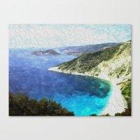 greek Canvas Prints featuring Greek coastline by Brian Raggatt