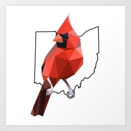 Ohio – Northern Cardinal Art Print