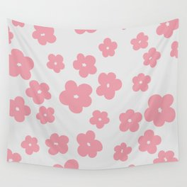 Grandes Fleurs Roses Wall Tapestry