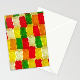Colorful gummi bears Stationery Cards