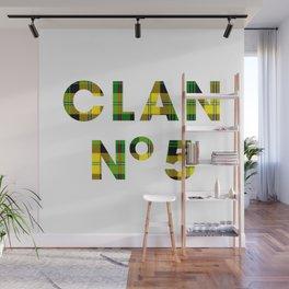 CLAN No 5 – Tartan Yellow Wall Mural