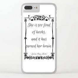Too Fond of Books Clear iPhone Case