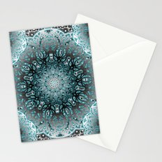 Aqua Nouveau Mandala Stationery Cards