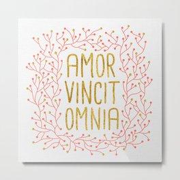 Amor Vincit Omnia Metal Print