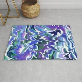 Liquid Marble // Navy Blue, Cobalt, Purple, Evergreen Rug