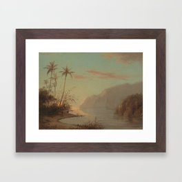 A Creek in St. Thomas (Virgin Islands) Camille Pissarro, 1856 Framed Art Print