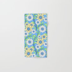 Bright floral pattern. Hand & Bath Towel