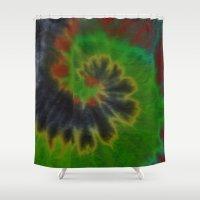 tie dye Shower Curtains featuring tie dye by Mylittleradical