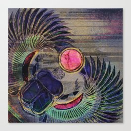 Egyptian Scarab Beetle Abstract on canvas Canvas Print