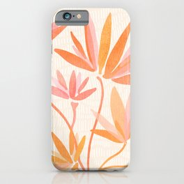 Basking In The Summer Sun / Japanese Botanical Woodblock iPhone Case