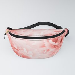 Living Coral Peonies Dream #1 #floral #decor #art #society6 Fanny Pack