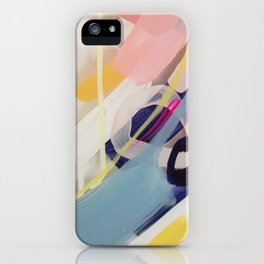 Those summer Days #1 Abstract on perspex by Jen Sievers iPhone Case