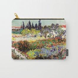 Vincent Van Gogh Flowering Garden Carry-All Pouch