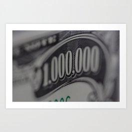 MILLION Art Print