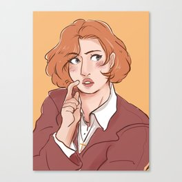 Flustered Dana Scully Canvas Print