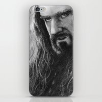 thorin iPhone & iPod Skins featuring Thorin by AnastasiumArt