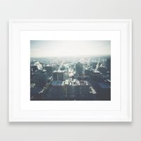 cityscape Framed Art Prints featuring Cityscape by Melanie McKay