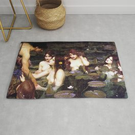 HYLAS AND THE NYMPHS - WATERHOUSE Rug