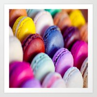 macaroons Art Prints featuring Macaroons by rosita