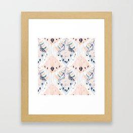 tranquilla balinese ikat Framed Art Print