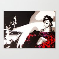 american beauty Canvas Prints featuring American Beauty by Pop Artist