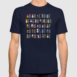 Pixel Muppet Show Alphabet T-shirt