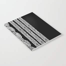 Cable Stripe Black Notebook