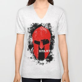 This Is Sparta minimalist poster Unisex V-Neck