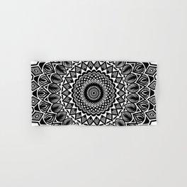 Detailed Black and White Mandala Hand & Bath Towel