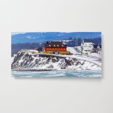 Le Chateau and the Sea Metal Print
