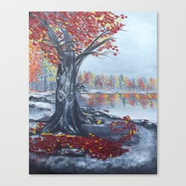 Fall Breeze 20x16 oil on canvas Canvas Print