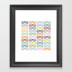 Rainbow Shades Framed Art Print
