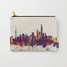 Shanghai China Skyline Carry-All Pouch