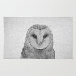Owl - Black & White Rug