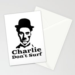 Charlie Chaplin Don't Surf Stationery Cards