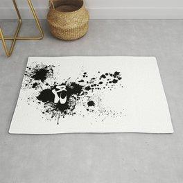 Ballet Slipper Splatter Painting Rug
