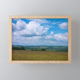 Looking across the Cotswolds, England Framed Mini Art Print