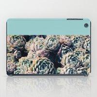 succulents iPad Cases featuring Succulents by Leah Flores