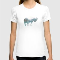 rhino T-shirts featuring Rhino  by O   N   E