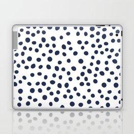 Dark blue vector doodle circle dot Laptop & iPad Skin