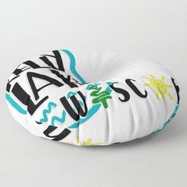 kelly lake, wi Floor Pillow