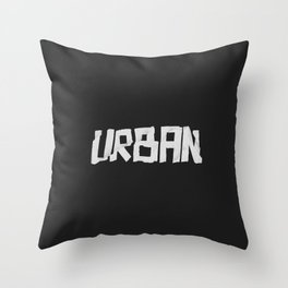 Urban Marker Throw Pillow