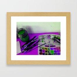 Aquarell und Digital Framed Art Print