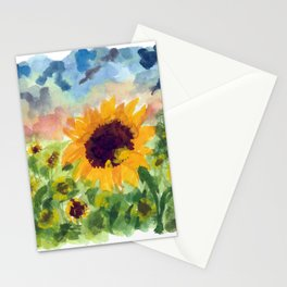 Sunflower Sunset Stationery Cards