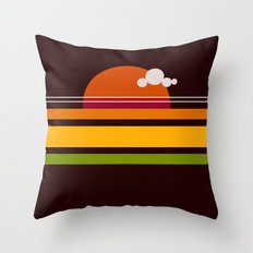 rosso di sera Throw Pillow