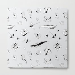 Pattern with Geometric Illustrations Metal Print